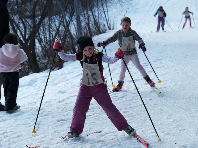 Skiing with children